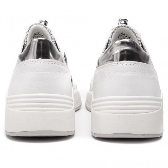 Scarpe 08514 F silver D D820sf C0007 Sneakers Geox Donna Basse White Omaya BdCWoexr
