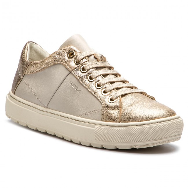 9217ef44e73cd2 Sneakers GEOX - D Breeda D D822QD 0BCKY C1240 Off White/Gold - Sneakers - Scarpe  basse - Donna - escarpe.it