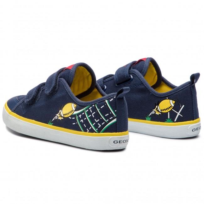J72a7s Bambino yellow Strappi Navy Scarpe A Geox Kilwi BS J Basse 01054 C0657 RjcA435Lq