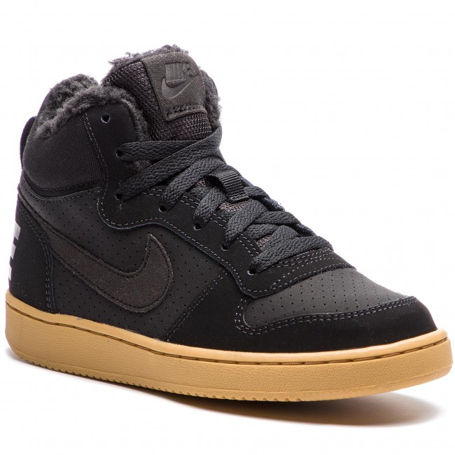 online store 10b3d 6e58b NIKE Scarpe - Court Borough Mid Wntr GS AA3458 002 Black Black Gum Light  Brown