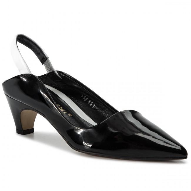 b16e0e0154a4 Sandali BRUNO PREMI - Vernice + Nappa BW4204X Nero/Bianco - Sandali da  giorno - Sandali - Ciabatte e sandali - Donna - escarpe.it