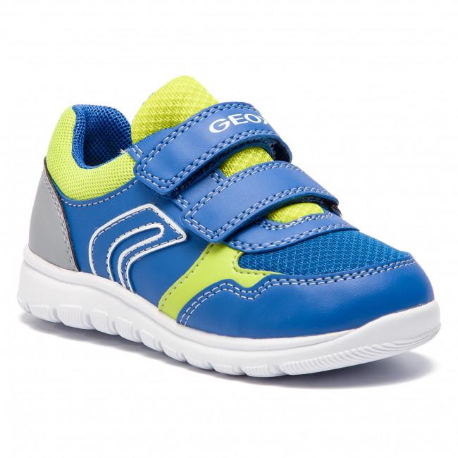 Scarpe sneakers bambino in tessuto blu royal Geox Rishon B920RB 0AW54 CK43S