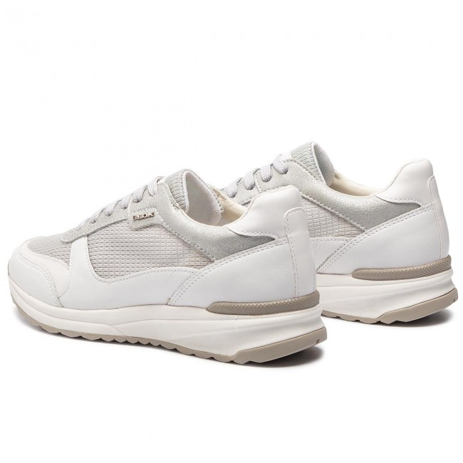 Sneakers GEOX D Airell C D642SC 0LY85 C0434 SilverWhite