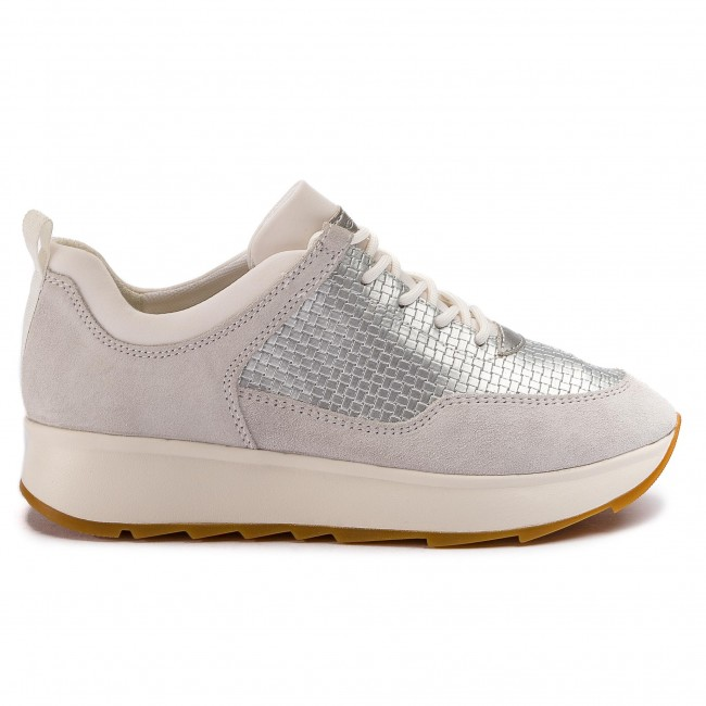 GEOX GENDRY D925TB 022QU Silver Sneakers Scarpe Donna