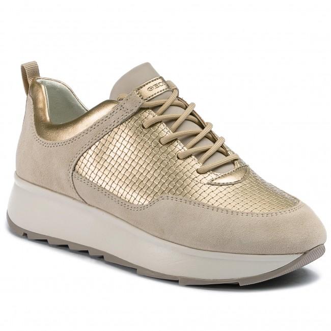GEOX GENDRY D925TB 022QU Crema Sneakers Scarpe Donna