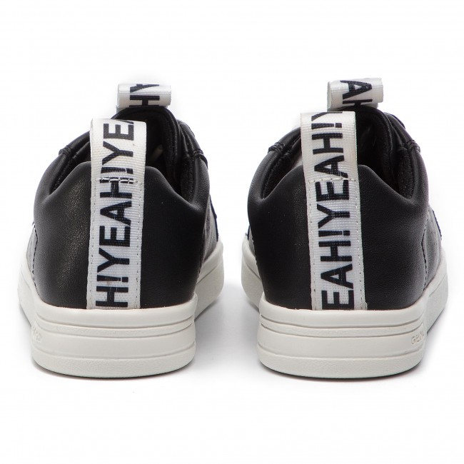 Basse GJ924mj Black Sneakers Scarpe S Geox 000bc J C9999 Stringate Bambina Bambino Djrock 8n0OPwkX