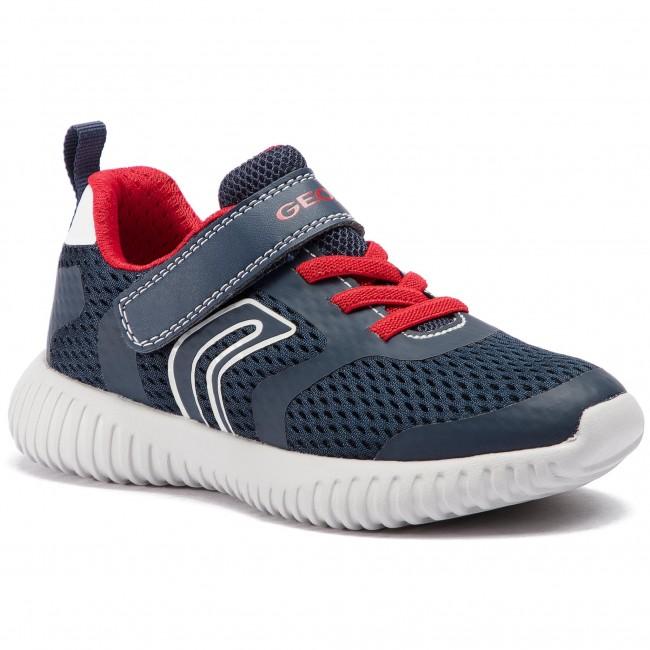 Sneakers GEOX J Waviness B.B J926TB 01454 C0735 S NavyRed