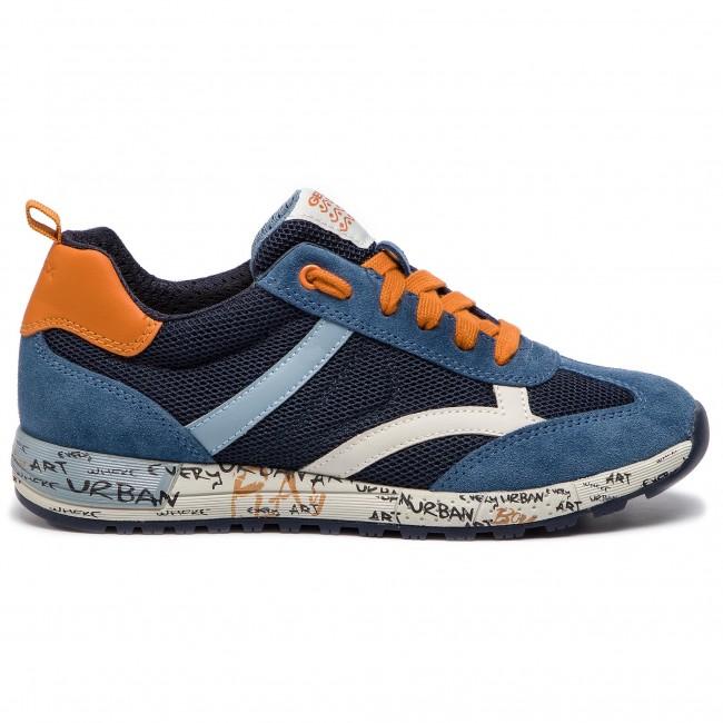Sneakers GEOX J Alben B. A J929EA 01422 C4218 D NavyDk Orange
