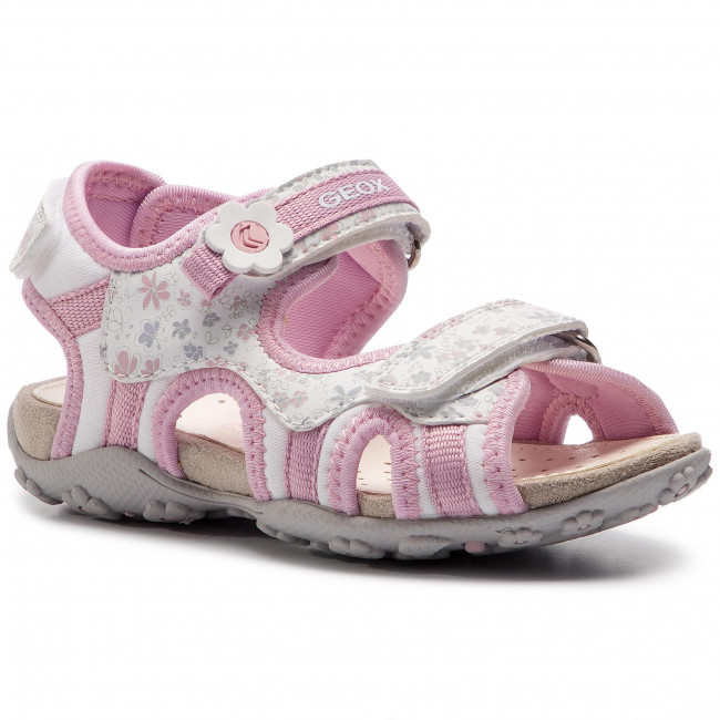 White M Bambino J Geox E S C Sandali Ciabatte J92d9c 01504 C0406 roxanne Bambina pink gyYmb67Ifv