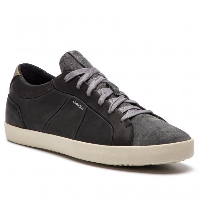 Sneakers GEOX U Warley A U926HA 04322 C0005 BlackDk Grey