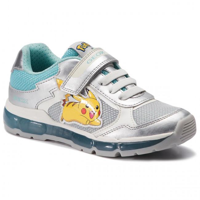 Sneakers GEOX J Anroid G. B J9245B 0GNAJ C1W4A D SilverAqua