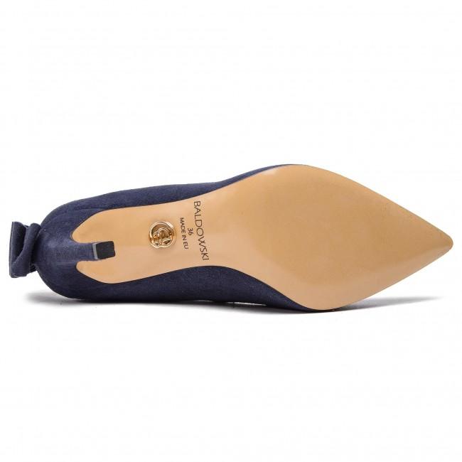 W00476 Stiletti Scarpe Baldowski Stiletto Blue 017 Basse 1451 Donna Zamsz Top ymOvn80wPN
