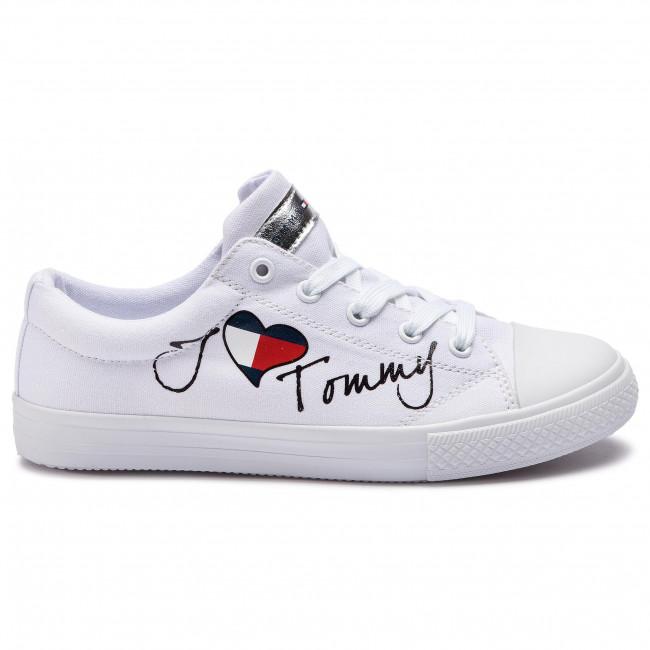 Scarpe da ginnastica TOMMY HILFIGER Low Cut Lace Up Sneaker White M T3A4 30260 0616 White 100