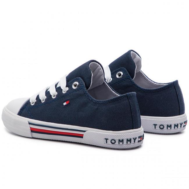 Scarpe da ginnastica TOMMY HILFIGER Low Cut Lace Up Sneaker T3X4 30278 0034 M White 100