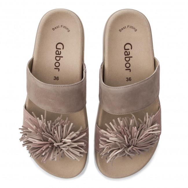 Ciabatte GABOR - 24.610.12 Visone/A'rosa/Skin - Ciabatte da giorno - Ciabatte - Ciabatte e sandali - Donna