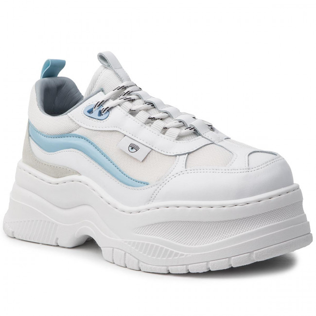 timeless design 1fbeb 7ae72 Sneakers CHIARA FERRAGNI - CF2341 White/Grey/Light Blu