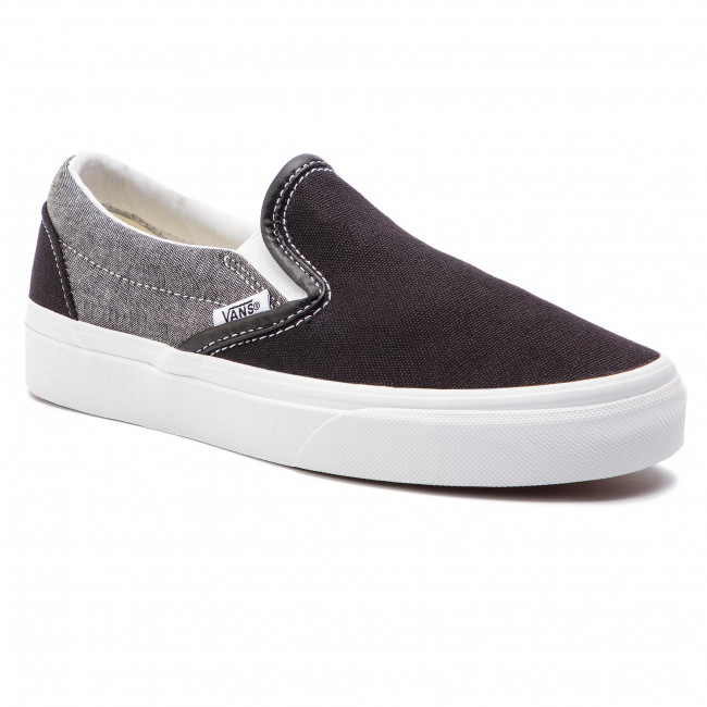 Scarpe sportive VANS Classic Slip On VN0A38F7VJ61 (Chambray) Canvas BlackT