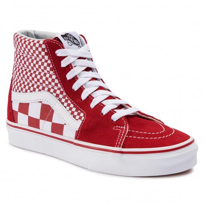 Sneakers VANS Sk8 Hi VN0A38GEVK51 (Mix Checker) CHili PepperTrue White