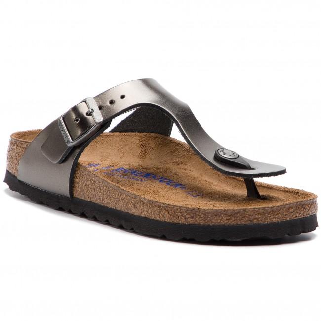 best sneakers b2e0c 292d1 Infradito BIRKENSTOCK - Gizeh Bs 1003677 Metallic Anthracite