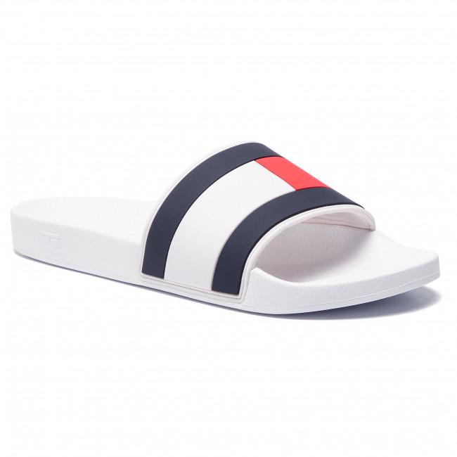 Ciabatte TOMMY HILFIGER Essential Flag Pool Slide FM0FM02327 White 100