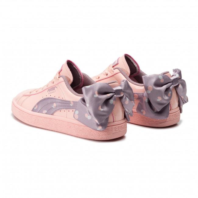 Sneakers PUMA Basket Bow Dots Jr 368980 02 Peach Bud Elderberry