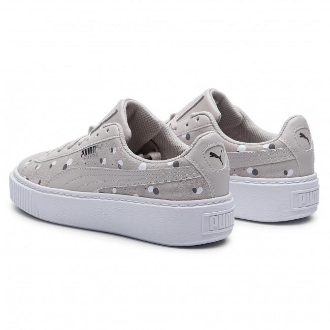 Sneakers PUMA Suede Platform Dots Jr 368991 02 Silver Gray