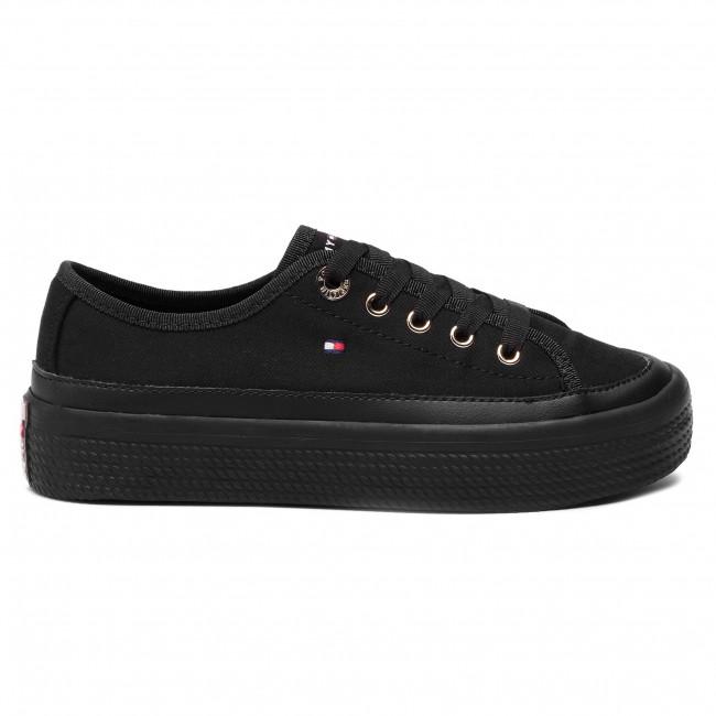 Scarpe sportive TOMMY HILFIGER Corporate Flatform Sneaker FW0FW02456 Black 990