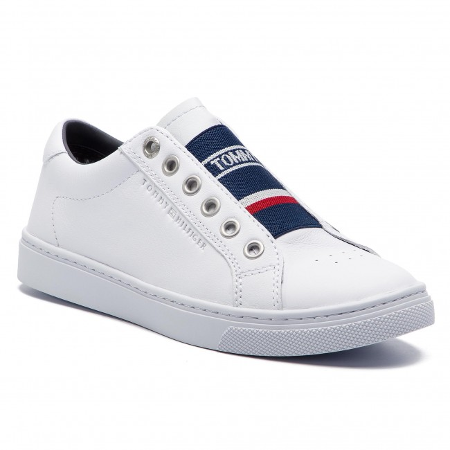 b8ad6f04f1a6 Sneakers TOMMY HILFIGER - Tommy Elastic City Sneaker FW0FW04019 White 100 -  Sneakers - Scarpe basse - Donna - escarpe.it