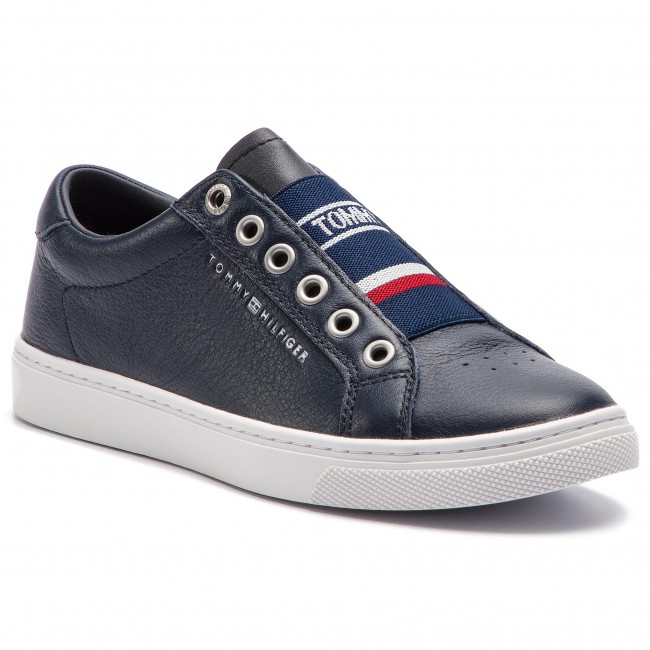 Tommy hilfiger corporate crystal dress sneaker fw0fw04296 escarpe.it grigio