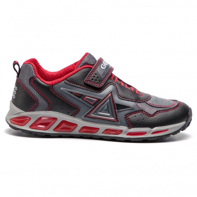 J 0bu11 Dd Sneakers Basse Strappi BB J8494b Geox Shuttle Bambino C0048 red Scarpe A Black kTZiOPXu