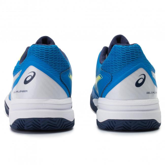 Sportive challenger Electric Blue Clay Tennis 1041a048 Scarpe 400 silver Gel Asics Uomo 12 29WDEIH