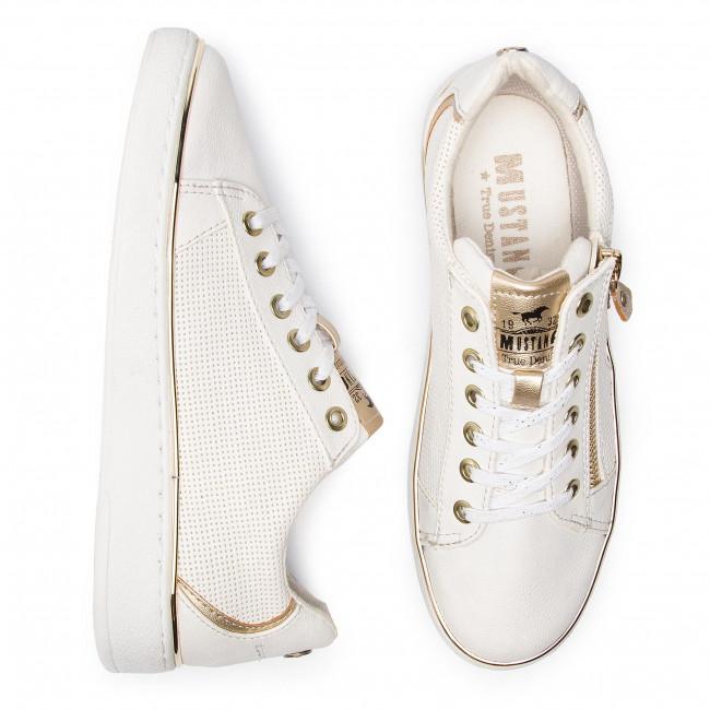 Sneakers MUSTANG - 44C0047 Weiß/Gold - Sneakers - Scarpe basse - Donna jnPSz