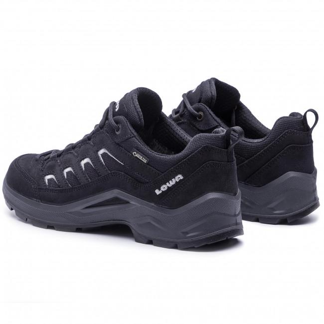 Scarpe da trekking LOWA - Sesto Gtx Lo GORE-TEX 3105733 Black/Grey 9930 - Scarpe da trekking e scarponcini - Scarpe basse - Uomo