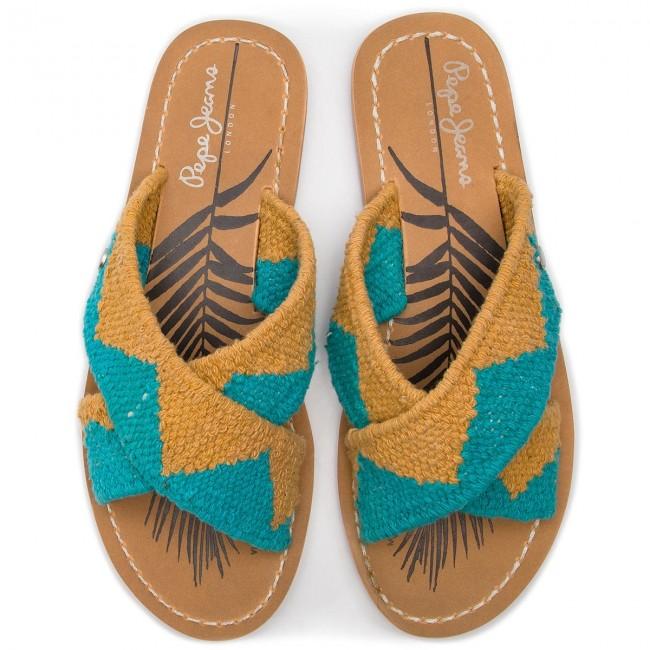 Ciabatte PEPE JEANS - Malibu Ethnic PLS90411 Tobacco 859 - Ciabatte da giorno - Ciabatte - Ciabatte e sandali - Donna