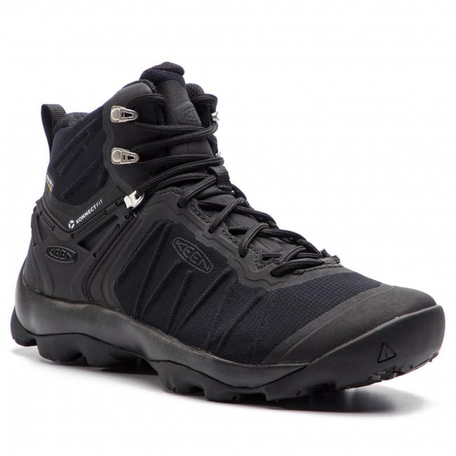 Scarpe da trekking KEEN - Venture Mid Wp 1021168 Black/Black