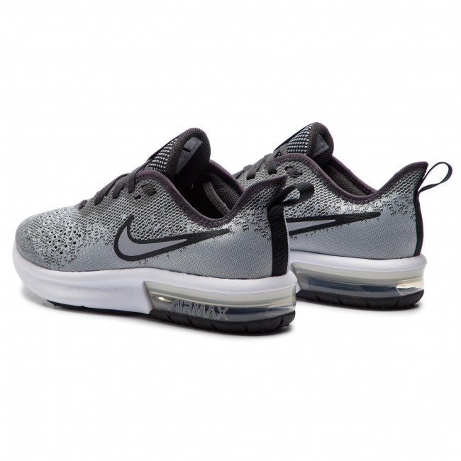 Scarpe NIKE Air Max Sequent 4 (GS) AQ2244 003 Wolf GreyWolf Grey Anthracite