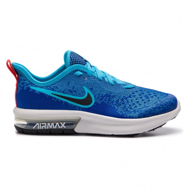 Scarpe NIKE Air Max Sequent 4 (GS) AQ2244 400 Indigo ForceBlack
