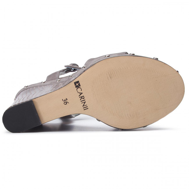 Sandali CARINII - B4777 J51-M91-000-D32 - Zeppe - Ciabatte e sandali - Donna