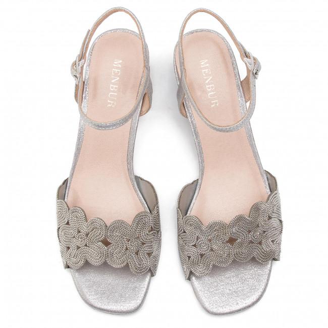 Sandali MENBUR - 20292-09 Silver 0009 - Sandali da giorno - Sandali - Ciabatte e sandali - Donna