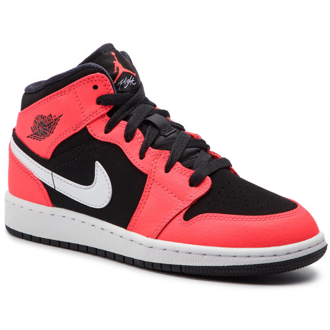 Scarpe NIKE - Air Jordan 1 Mid (GS) 554725 061 Black/Infrared 23/White