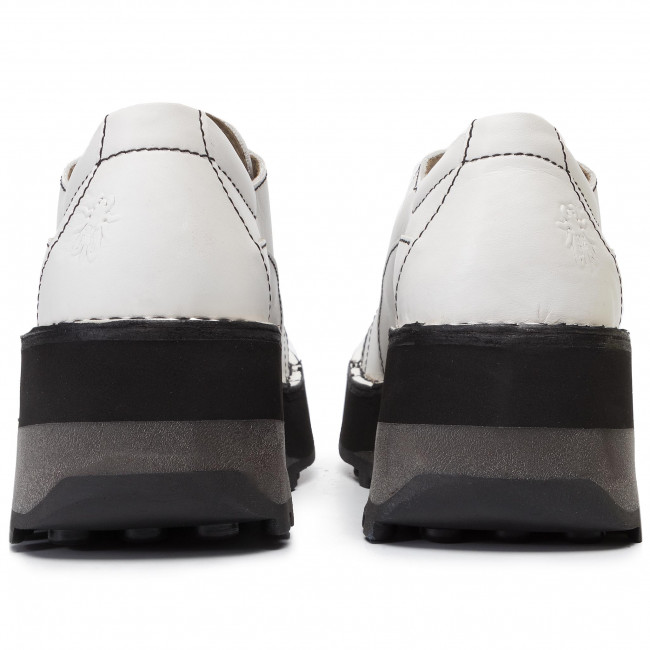 Donna Fly A Tacco P211018001 Zeppa Basse Hajifly Scarpe Con London Offwhite 3jS54RAcLq