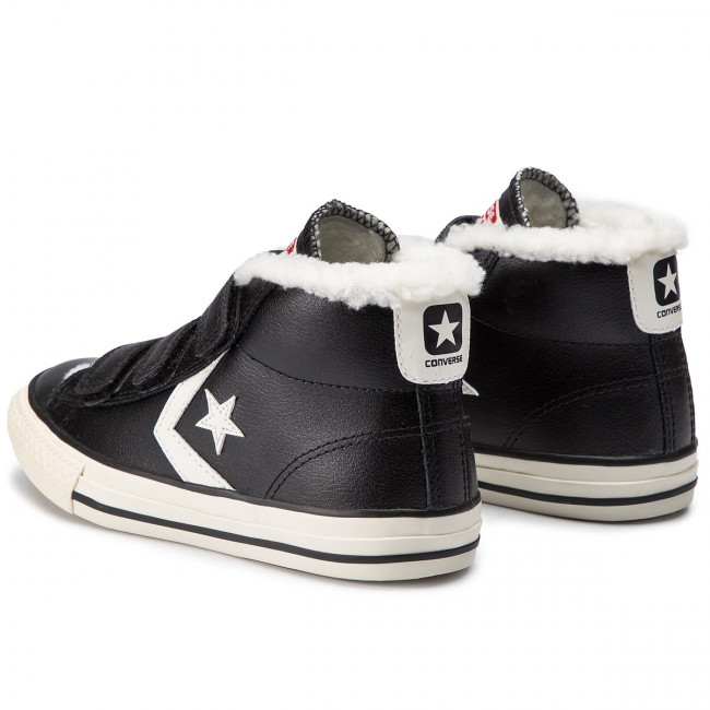 Scarpe da ginnastica CONVERSE Star Player EV 3V Mid 658152C BlackEgretTerra Red