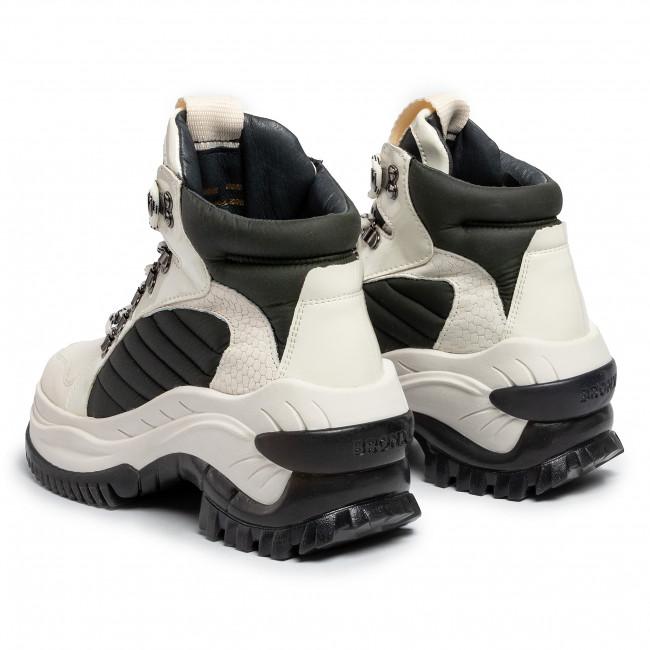 Sneakers Bronx - 47224-ah Bx 1586 Off White/khaki Scarpe Basse Donna