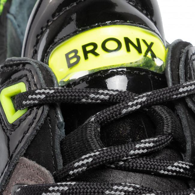 Sneakers BRONX - 66280-BP BX1525 Black/D. Grey/N. Yellow 3242 - Sneakers - Scarpe basse - Donna