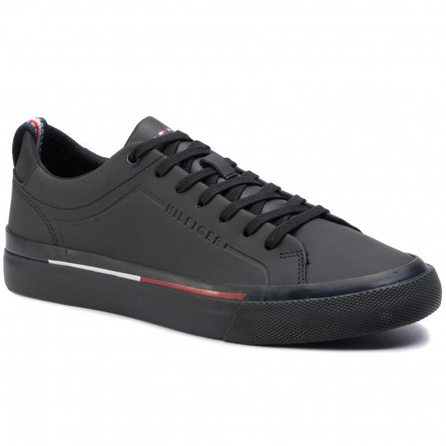 the best attitude d946b 986dc Scarpe sportive TOMMY HILFIGER - Corporate Leather Sneaker FM0FM02285 Black  950