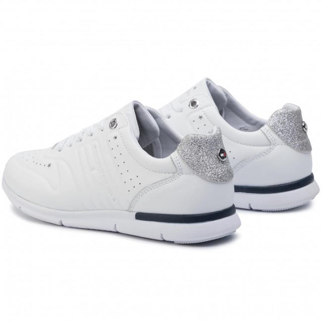 Sneakers TOMMY HILFIGER Glitter Detail Light Sneaker FW0FW04141 White 100
