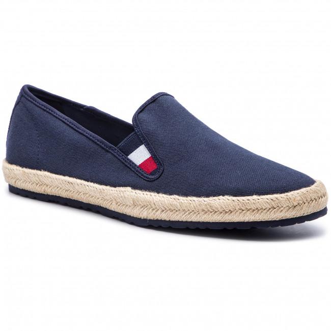 Tommy Hilfiger blu maschile espadrillas Tommy Jeans Stripe Summer Shoe Ink