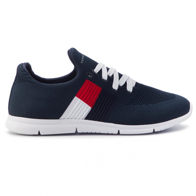 Sneakers TOMMY HILFIGER Knitted Flag Light Sneaker FW0FW04144 White 100