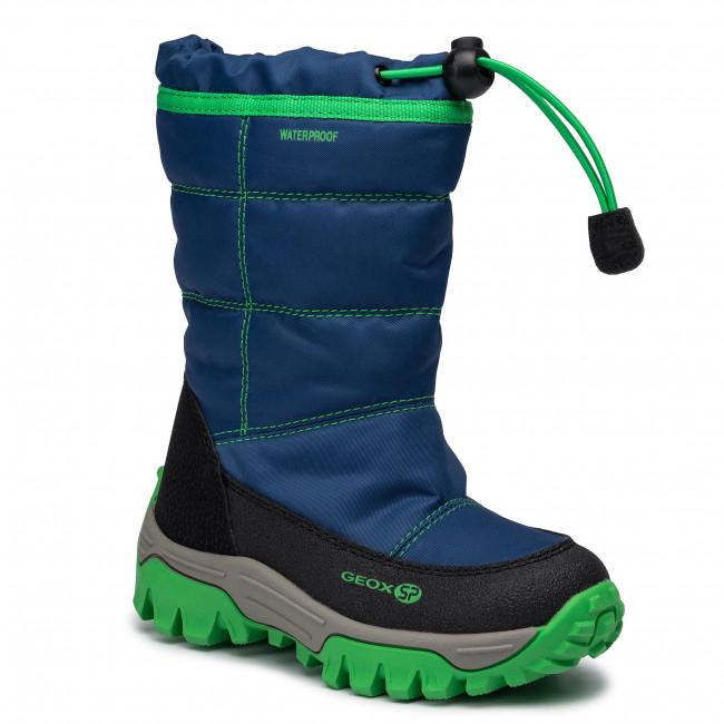 ragazzo Geox Grigio, Verde Stivali da neve GEOX Ecopelle