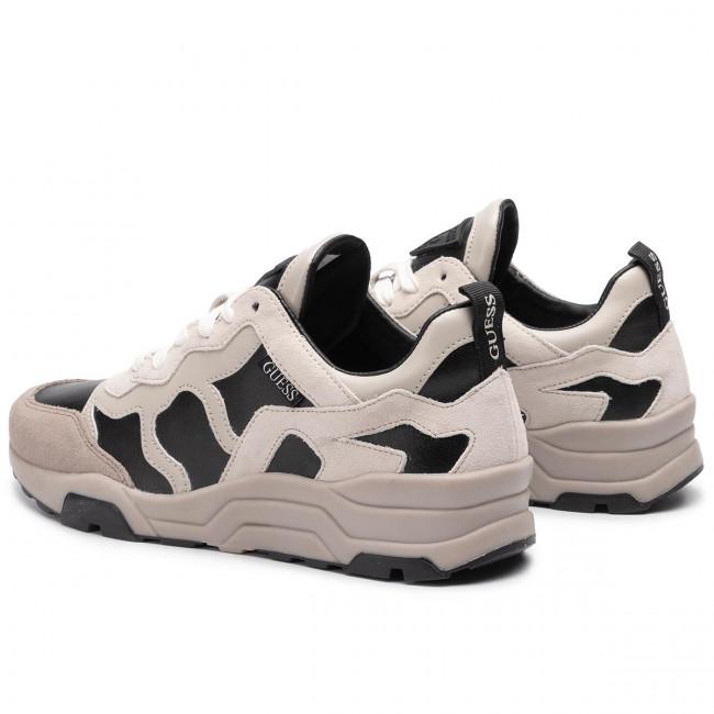 Lea12 Blkwh Guess Fm8fis Fishnet Sneakers Basse Uomo Scarpe DWE2IYH9